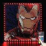 LED Beleuchtungsset für Marvel Studios Iron Man - Kompatibel mit Lego 31199 Bausteine Modell - Enthält nicht das Lego Set