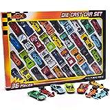 Kids Toy Cars aus Metalldruckguss - 36-teilige Rennwagen, Cabrio Toy Car Pack
