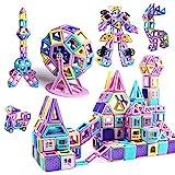 Mini Magnetische Bausteine 146Pcs Schloss Magnetic Bauklötze Baukasten Kinder | 3D Macaron Lernen & Entwicklung Bausteine Mini Spielzeug | Perfekt für Zuhause, Schulen, Kindertagesstätten