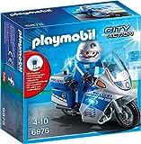 PLAYMOBIL City Action 6876 Motorradstreife mit LED-Blinklicht, Ab 5 Jahren