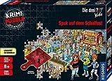 Kosmos 697983 - Krimi Puzzle: Die drei ??? Kids - Spuk auf dem Schulfest, Leuchtet im Dunkeln, 200 Teile, Lesen - Puzzeln - Rätsel lösen, für Kinder ab 8 Jahre
