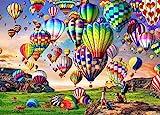 HUADADA Puzzle 1000 Teile,Puzzle für Erwachsene, Impossible Puzzle, Geschicklichkeitsspiel für die ganze Familie,Puzzle farbenfrohes Legespiel-Bunter Heißluftballon, Erwachsenenpuzzle.