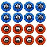 CS COSDDI Shuffleboard,Shuffleboard Pucks,Curling Mini Rollers Ersatzset mit 16 Rollen, Shuffleboard Table Game (8 Rot & 8 Blau)