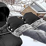 Handwärmer Kinderwagen Handschuhe Handmuff mit Warme Fleece, Wasserdicht Winddicht Stroller Handmuff Kinderwagenmuff Universalgröße für Kinderwagen, Buggy, Radanhänger