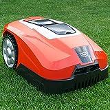 HECHT starker Mähroboter für bis zu 800 m² Rasenfläche – starker 2,5 Ah Akku – mit Regensensor & Diebstahlschutz – 35% Steigung – leiser selbstfahrender Rasenmäher/Rasenroboter einfach zu bedienen