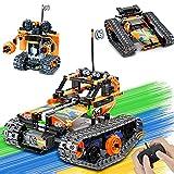 LUKAT Technik Ferngesteuert Spielzeug für Jungen, 3 in 1 STEM Ferngesteuertes Bausteine Bauspielzeug für Kinder Alter 8 9 10 11 12 Jahre, Pädagogische RC BAU Spielzeug Racer RC Auto/Panzer/Roboter