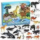 Cheer4bee Adventskalender 2020, 24 Stücke Spielzeugset von Dschungel Tieren, Tierwelt, Weihnachtskalender für Jungen Kinder Spielzeug, Spielzeug Lernen, Partyzubehör