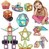 WEDSFC Magnetische Bausteine,Magnetspielzeug Lernspielzeug,Tolles Geschenk Für Kinder/Kleinkinder/Mädchen/Jungen (72 STÜCKE)