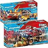 PLAYMOBIL® Stuntshow 2er Set 70549 70551 Monster Truck Horned + Crashcar