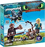 PLAYMOBIL DreamWorks Dragons 70040 Hicks und Astrid mit Babydrachen, ab 4 Jahren