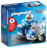PLAYMOBIL City Action 6923 Motorradstreife mit LED-Blinklicht, Ab 5 Jahren