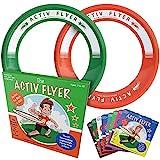 Activ Life Best Kids Wurfringe, Frisbees [Grün/Orange] Spielen Sie ultimative Wurf-Spiele mit Freunden und Familie im Freien - auch für Turnhallen - Spielzeug für Top Frisbee- Sport Spiele für Kinder