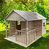 BRAST Spielhaus'Cottage' für Kinder 274x183x170cm Tannenholz 12mm Kinder-Haus Spielehaus Garten Holzhaus