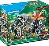 Playmobil 70327 Dinos XXL T-Rex Dinosaurier mit Vulkanausbruch und Figuren
