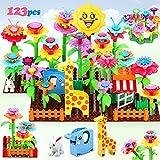 Fivejoy Blumengarten Spielzeug, DIY Bouquet Tier Sets 124pcs mit Elefanten / Giraffen/ Kaninchenmodell, Draußen Drinnen Spielzeug Geschenk, Pädagogische STEM Aktivität für Vorschulkinder