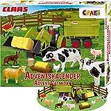 CRAZE Adventskalender CLAAS Maschinen Weihnachtskalender für Jungen Spielzeug Kalender tolle Inhalte 19597