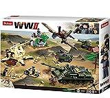 Sluban SL95568, WWII - Kampf um Kursk [M38-B0697], Spielset , Klemmbausteine, Soldaten, mit Spielfigur, Army WWII