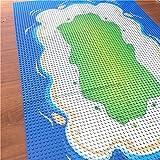 Modbrix Bausteine Insel 6 x Grundplatte Inselplatte Set 32 x 32 Noppen Bauplatte, 25x25 cm