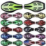 FunTomia Waveboard Original Mach1 Kugellager inkl. Tasche und CD (Verschiedene Farbdesigns) (Grün/Punkte)
