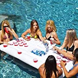 Aufblasbare Matratze, Schwimmbad Bier Tischtennis aufblasbare Matratze, Erwachsene Trinkwasser Spiel Billardtisch Schwimmbad, Outdoor User Pool