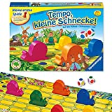 Ravensburger Kinderspiel Tempo kleine Schnecke, Das spannende Schneckenrennen, Brettspiel und Gesellschaftsspiel für Mädchen und Jungen, 2-6 Spieler, ab 3 Jahren