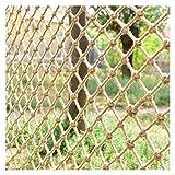 ZGQSW Kinder Sicherheitsnetz, Hanfseilnetz, Kletternetz, Balkontreppennetz, Fotowanddekoration Trennwand Deckennetz, Hindernisschutz Gartenzaunnetz, 2x5m (Size : 1 * 10m(3 * 33ft))