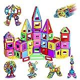 infinitoo Magnetische Bausteine Magnetic Bauklötze Baukasten Kinder   Tolles Geschenk Lernspielzeug für Kinder ab 3 Jahre   Perfekt für den Einsatz zu Hause, in Schulen (162tlg Manetic Bausteine)