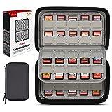 Switch Spiele Aufbewahrung Tasche Schutzhülle, Sisma Game Case für 80 Nintendo Switch Spiele oder SD Karten, Game Card Box Organizer Hardcase Hülle, Schwarz