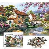 ANDSTON Puzzle 1000 Teile für Erwachsene 1000 Teiliges Puzzle | Summer Creek Bridge | Lernpuzzles für Erwachsene 1000 Stück Puzzle für Kinder, Puzzlespiel Herausforderndes Puzzlespiel Home Wall Decor