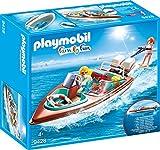 PLAYMOBIL Family Fun 9428 - Motorboot mit Unterwassermotor, ab 4 Jahren