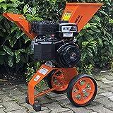 Benzin Häcksler 6 PS 4-Takt Motor 208 ccm Ast Laub Holz Garten-Häcksler Garten-Schredder Motor-Häcksler Trommelhäcksler