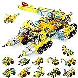 VATOS Bausteine Spielzeug ab 6+ Jahren für Jungen und Mädchen,566PCS Konstruktionsspielzeug, 25-in-1 STEM Bauspielzeug Geschenke für Jungs, Creative Engineering Vehicle Kit für Kinder