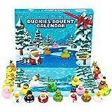 KreativeKraft Adventskalender 2021 Badeente Badewannenspielzeug Set, Rubber Duck Badespielzeug Weihnachtskalender 2021