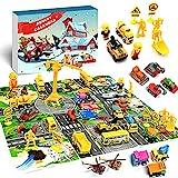 iZoeL Adventskalender Junge Fahrzeuge 24 Überraschung Baufahrzeug Flugzeuge 2021 Weihnachtskalender Geschenk für Kinder ab 3 -12 Jahre