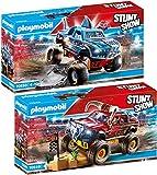 PLAYMOBIL® Stuntshow 2er Set 70549 70550 Monster Truck Horned + Monster Truck Shark