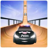 US Police McQueen Car Mega Ramp Racing Stunts : Cop Driving 2